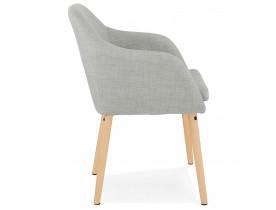 Chaise scandinave avec accoudoirs 'FLORIDA' en tissu gris