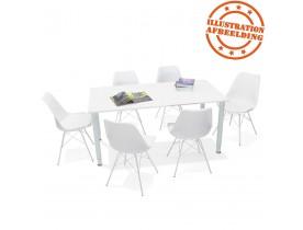 Table de réunion / bureau design 'FOCUS' blanc - 160x80 cm