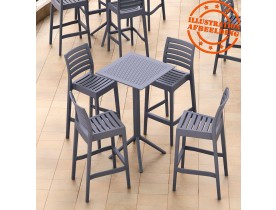 Table haute pliable 'FOLY BAR' grise foncée pour intérieur et extérieur