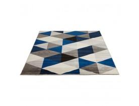Tapis design 'GRAFIK' 160/230 cm avec motifs graphiques bleus
