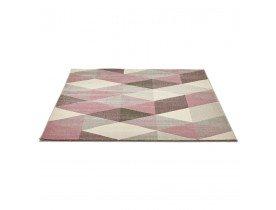 Tapis design 'GRAFIK' 160/230 cm avec motifs graphiques roses