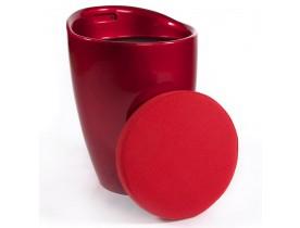 Tabouret coffre d'appoint 'GUM' rouge