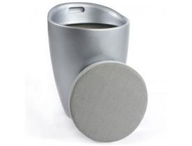 Tabouret coffre d'appoint 'GUM' gris argenté