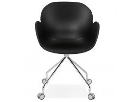 Chaise de bureau design 'JEFF' noire sur roulettes