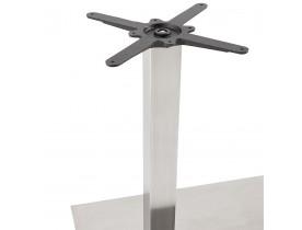 Pied de table 'KARO DOUBLE' 75 en acier brossé