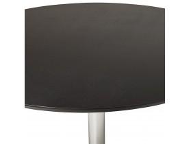 Petite table de bureau / à diner ronde 'KITCHEN' noire - Ø 90 cm