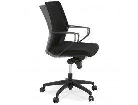 Fauteuil de bureau ergonomique 'KIWI LOW' en tissu noir