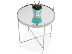 Table d'appoint pliable 'KOLOS' couleur chrome