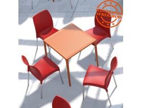 Table à dîner carrée 'KUIK' design orange - 72x72 cm