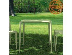 Table à dîner carrée 'KUIK' design grise - 72x72 cm