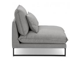 Grand fauteuil lounge 'LASKA' en tissu gris clair 1 place
