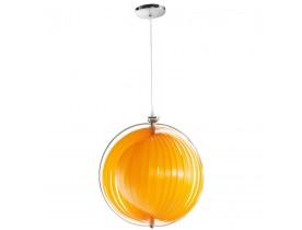Suspension boule design 'LISA' en lamelles flexibles orange
