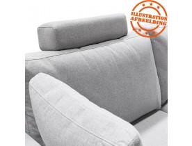 Appui-tête pour canapé 'LUCA' en tissu gris clair
