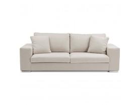 Canapé droit moderne 'LUCA' en tissu beige - Canapé 3 places