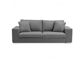Canapé droit moderne 'LUCA' en tissu gris foncé - Canapé 3 places