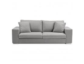 Canapé droit moderne 'LUCA' en tissu gris clair - Canapé 3 places