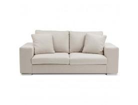Canapé droit moderne 'LUCA MEDIUM' en tissu beige - Canapé 2 places