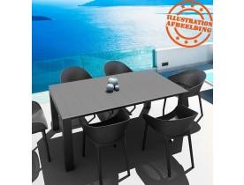 Chaise de terrasse perforée 'LUCKY' noire design