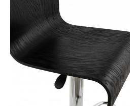 Tabouret de bar réglable 'MAGMA' en bois noir