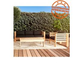 Canapé droit 3 place intérieur/extérieur 'MALO' en bois Teck naturel