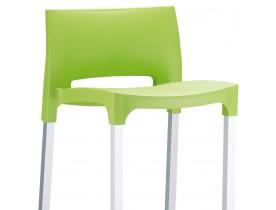 Tabouret de bar 'MATY' vert empilable extérieur et intérieur