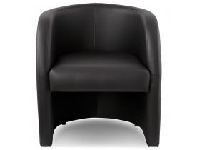 Fauteuil cabriolet de salon 'MAX' en matière synthétique noire