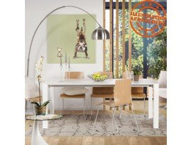Table design extensible 'MAMAT' blanche mate - 190(270)x95 cm