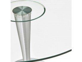 Table à dîner ronde moderne 'MASKARA' en verre - Ø 120 cm
