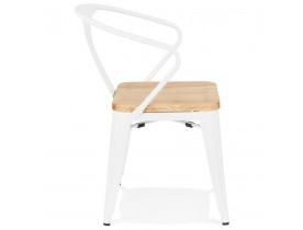 Chaise style industriel 'METROPOLIS' en métal blanc