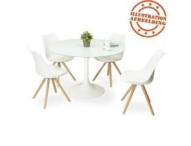 Table à dîner design ronde 'ALEXIA' blanche - Ø 120 cm
