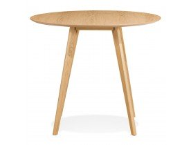 Table de cuisine ronde 'MIDY' finition naturelle style scandinave - ø 90 cm