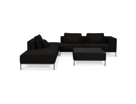 Canapé modulable 'NANY ANGLE' en tissu noir (angle à gauche)