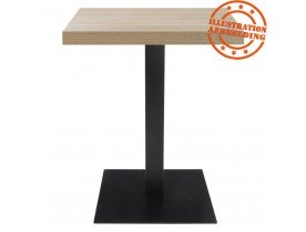 Plateau de table 'NATO' carré 68x68cm en bois finition naturelle