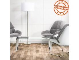 Table basse design de salon 'NEBRASKA' en verre