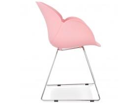 Chaise design 'NEGO' rose en matière plastique