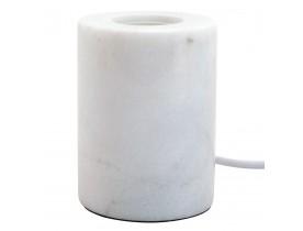 Pied de lampe de table 'NIGRI' en marbre blanc