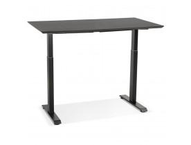 Petit bureau réglable en hauteur 'NOVELLA' en bois et métal noir - 130x70 cm