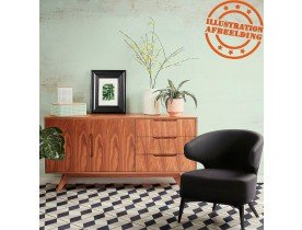 Fauteuil lounge design 'ODILE' noir