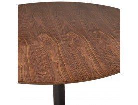 Mange-debout / table haute 'OSTERIA' en bois finition Noyer - Ø 90 cm