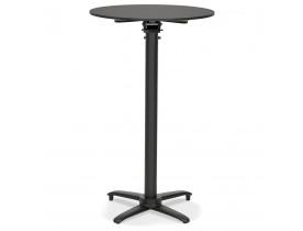 Table haute pliable 'PAXTON' ronde noire - Ø 68 cm