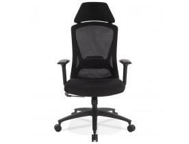 Fauteuil de bureau ergonomique 'PELIKAN' en tissu noir