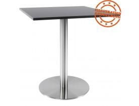 Pied de table 'PLATO' 75 en acier brossé avec base ronde