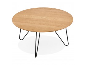 Table basse design 'PLUTO' en bois finition naturelle