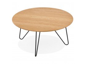 Table basse design 'PLUTO' en bois finition naturel