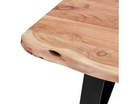 Table de bar haute 'RAFA' en bois massif et métal - 200x95 cm