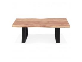 Table basse de salon 'RAFA' en bois massif et métal