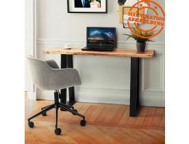 Chaise de bureau 'CENTURION' en tissu gris sur roulettes