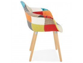Chaise design avec accoudoirs 'RAMBLA' style patchwork