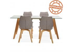 Table de salle à manger design 'SALTO' en verre - 180x90 cm