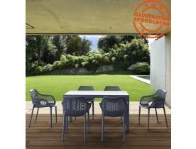 Chaise de jardin / terrasse 'SISTER' gris foncé en matière plastique